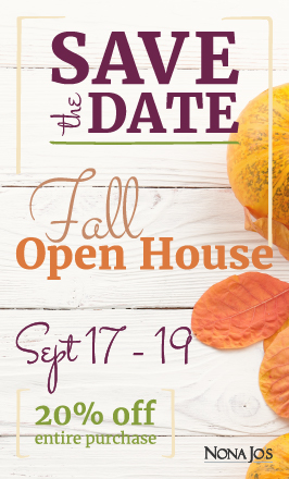 Fall Autumn Home Decor and Accessory Open House Event Announcement
